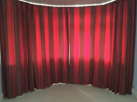 Large lined curtains Drop 240cm x 300cm (max) per curtain