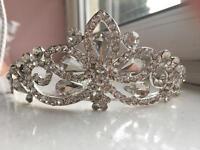 Diamond bridal headband and diamond ring