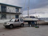 Hurley 20 Sailing Boat C/W With Honda 5 H/P Outboard & Fully Galvanised Road/Launching Trailer