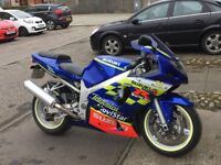 here is my suzuki gsxr for sale,full mot low mileage,garaged dry weather use only