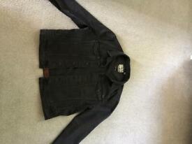 Men's Jacket - Superdry, Used, Black, Denim, XXL