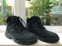 Dr Marten Ridge Black Leather Safety Steel Toe Boots Size 9