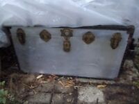 Metal Trunk ideal for storage or toy box - strong and good quality