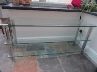 Glass TV Stand - Rectangular 110 x 33cm
