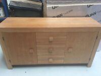 Sturdy Modern Solid Wood Light Oak Sideboard