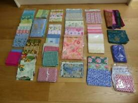 Fifth selection of cotton quilting fabrics in various colours and patterns.