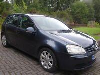 2005/55 Volkswagen Golf 1.9 TDI 105 BHP Sport, 6 speed manual. New MOT.Dark blue. Reduced, £1850ono.