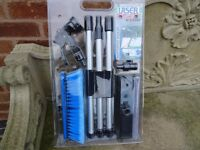 Brush set for conservatories, cars, windows. Bankrupt stock reduced to £14.95, from £34.95