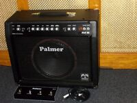 Palmer Fat 50 valve combo 1 x 12 speaker, split channel with reverb and footswitch