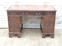 Leather top desk office desks tables for sale gumtree brown desk with antique brown leather top delivery gumiabroncs Choice Image