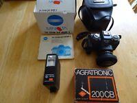 vintage Minolta camera 110 200m SLR mark 2