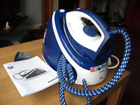 PHILIPS FAST CARE STEAM IRON GENERATOR, 2.2L TANK, POWERFUL, AS NEW. MODEL GC7703