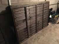3 X 6x4ft fence panels.