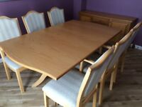 Dining table (extending) and 6 chairs