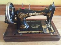antique singer sewing machine patente 1886
