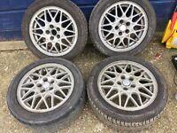 """BBS 15"""" Alloy Wheels 5x100"""