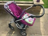 Mamas and Papas Sola Pushchair with Footmuff and Car Seat Adaptors, Scarcroft - Leeds