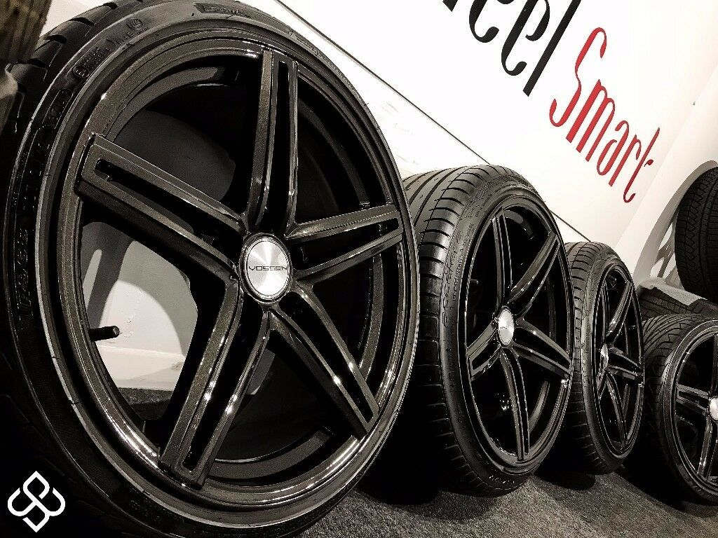 "NEW 18"" ALLOY WHEELS & TYRES- CARBON BLACK - 5 X 112 - (Mercedes, Audi, Volkswagon) -Wheel Smart"