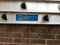 Aluminium extending ladders 3.5 metre extending to 7 metres