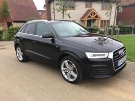 Audi Q3 2.0 TDI Quattro S-Line Plus Black (65 Plate)