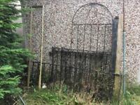 Metal Rail Gates x4 plus Metal Fence - various sizes