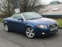 AUDI A4 TDI S LINE CONVERTIBLE 140BHP 6 SPEED 2006