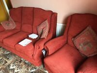 Sofa & Two Arm Chairs (Manor House) (Pick Up Only)