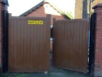 Galvanised Steel Painted Gates