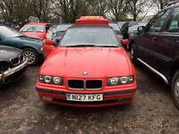 [Simmons BMW Livingston] 1996 BMW E36 328i Breaking Hellrot red convertible - still complete