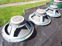 Three 100 watt pa speakers