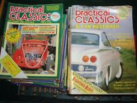 Huge collection of 133 PRACTICAL CLASSICS Car magazines