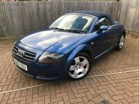 2003 Audi TT 1.8 T Roadster 2dr (90,000 Miles) New Cambelt & Mot! FSH! High spec! Cards accepted!