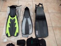 Diving and snorkelling equipment.