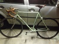 Vintage Bianchi fixie replica bike, resprayed and renovated