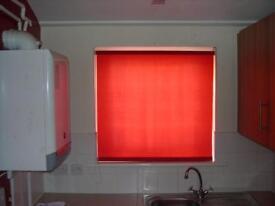 Red Roller Blind 35 x 38