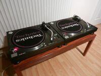 2 x Technics SL-1210 MK5 Turntables - Serviced