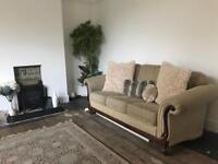 Vintage sofa and armchair