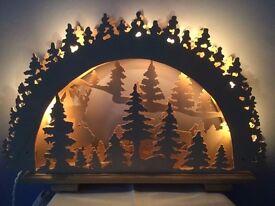 Stunning Illuminated Wooden Christmas Window Decoration