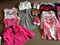 Bundle of toddler girls clothes size 3-4 years ideal for nursery