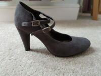 Monsoon grey heeled shoes UK size 7 (40)