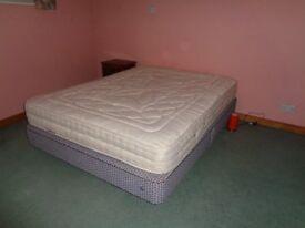 King size (5 foot wide) divan bed and mattress (mattress sold)