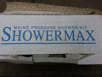 Showermix Main presure shower kits in white never,used boxed with manual!Can deliver or post!