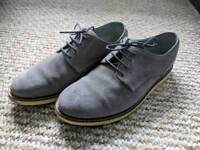 Men grey suede shoes size 7