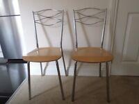 Pair of Retro Kitchen Chairs