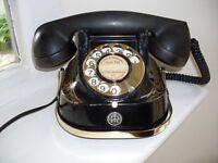Vintage Black Bakelite Telephone