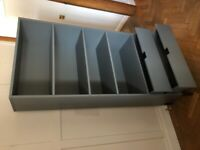 Large grey industrial style bookcase. Marcell range at made.