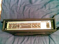 HARTKE 2500 BASS AMP HEAD WITH RACK PROTECTIVE CASE