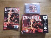 Carmageddon 64 - Nintendo 64 game with original box and manual