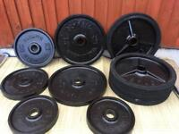 """190kg Olympic Weights Plates Cast Iron 2"""" Plates"""