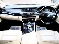 BMW 520D SE AUTOMATIC 4 DOOR SALOON FSH HPI CLEAR CREAM LEATHER EXCELLENT CONDITION
